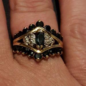 14kt sapphire ring